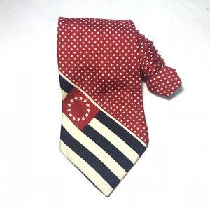 Tommy Hilfiger Stars Stripes, Polka Dots Mens Tie